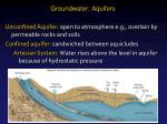 groundwater aquifers
