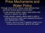 price mechanisms and water policy