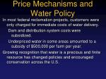 price mechanisms and water policy1