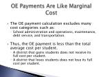oe payments are like marginal cost