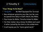 2 timothy 3 conclusions4