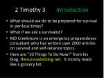 2 timothy 3 introduction