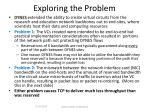 exploring the problem