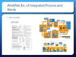 another ex of integrated pictures and words