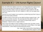 example 1 un human rights council