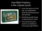 how bible prophecy is like a jigsaw puzzle