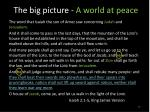 the big picture a world at peace