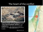 the heart of the conflict