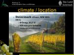 climate location