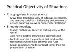 practical objectivity of situations