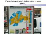 l interface est peu intuitive et mon tram arrive