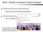 outils contact ressources travail en groupe