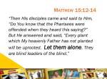 matthew 15 12 14