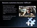 reasons customers become difficult2