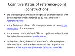 cognitive status of reference point constructions
