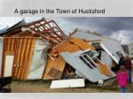 a garage in the town of hustisford