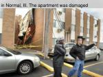 in normal ill the apartment was damaged
