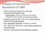 collapse of communism revolutions of 1989