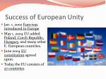 success of european unity