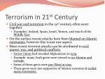 terrorism in 21 st century