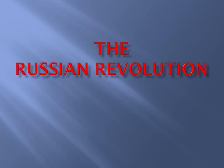 the russian revolution n.