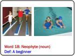 word 18 neophyte noun def a beginner