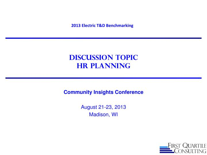 discussion topic hr planning n.