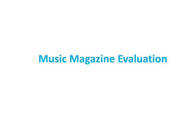 music magazine evaluation n.