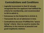 contradictions and conditions2