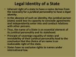 legal identity of a state