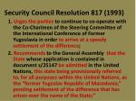 security council resolution 817 19931