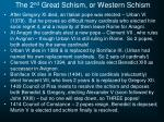 the 2 nd great schism or western schism1