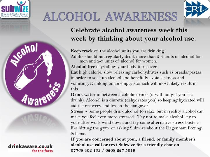 alcohol awareness n.
