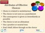 attributes of effective choices