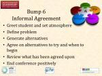 bump 6 informal agreement