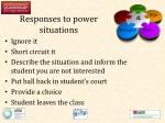 responses to power situations