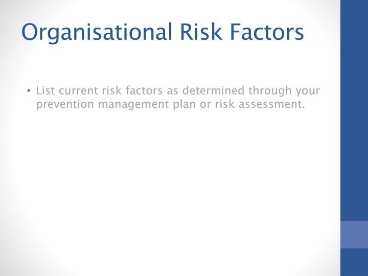 Organisational Risk
