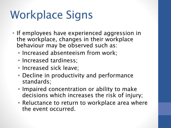 Workplace Signs