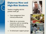 diplomas now and high risk students
