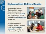 diplomas now delivers results
