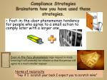 compliance strategies brainstorm how you have used these strategies