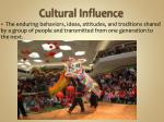 cultural influence