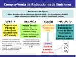 compra venta de reducciones de emisiones