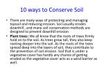 10 ways to conserve soil