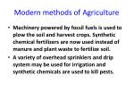 modern methods of agriculture
