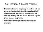soil erosion a global problem