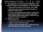 attorneys liens n 8 p 224