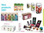 new products 2001