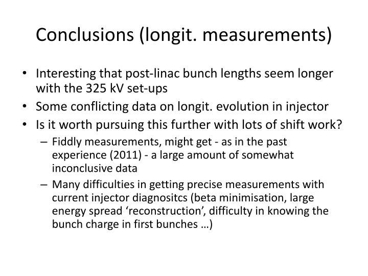 Conclusions (longit. measurements)