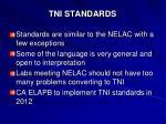 tni standards